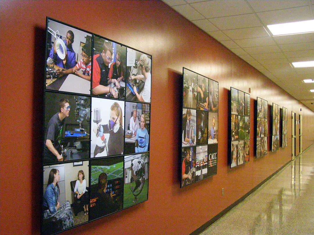 Calhoun career center wall display abstracta for Picture wall display